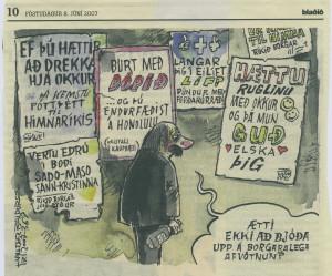 Mynd Halldórs Baldurssonar í Blaðinu 8. júní 2007