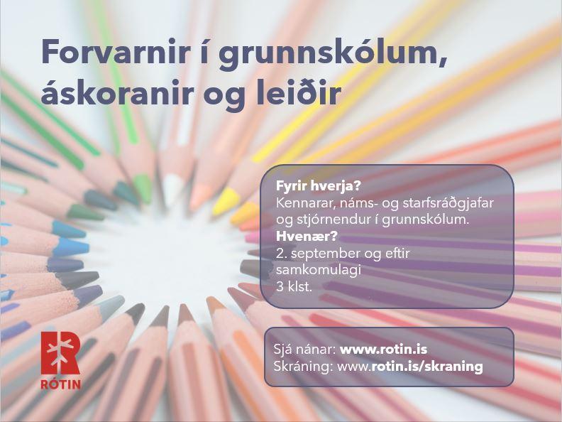 Forvarnir í grunnskólum, áskoranir og leiðir