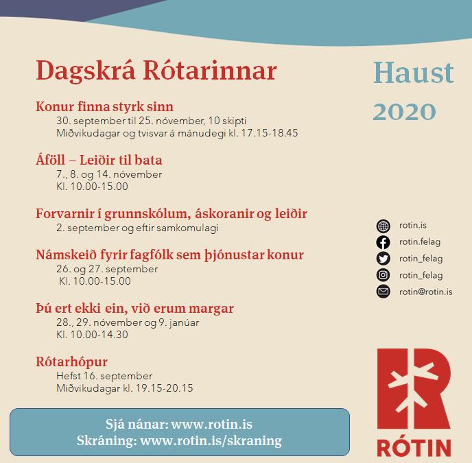 Dagskrá haust 2020