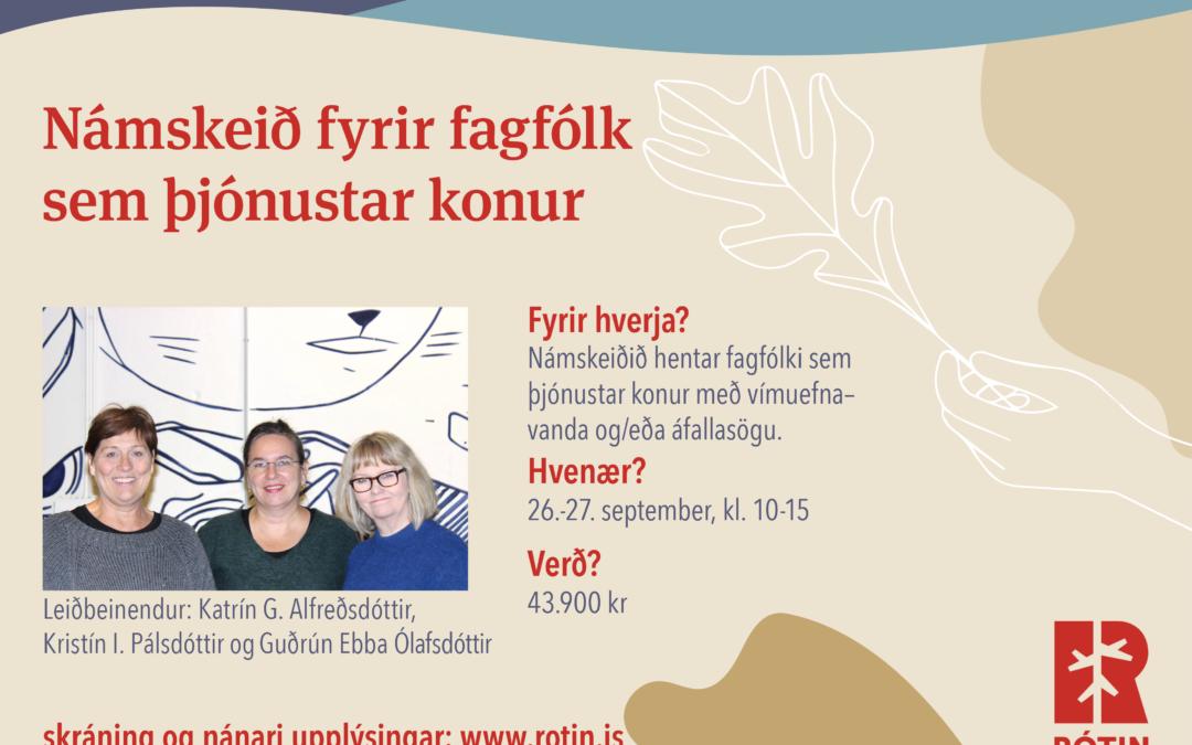 Námskeið fyrir fagfólk sem þjónustar konur